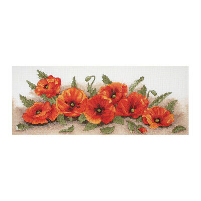 ANCHOR | Counted Cross Stitch Kit: Spray of Poppies - Wall Hanging | PCE722