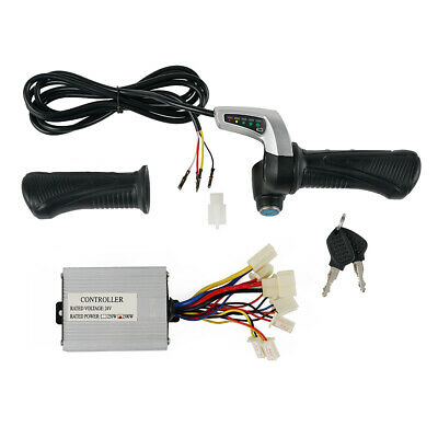 Electric E-motorcycle Throttle Grips and 24V Motor Brush Speed Controller kit