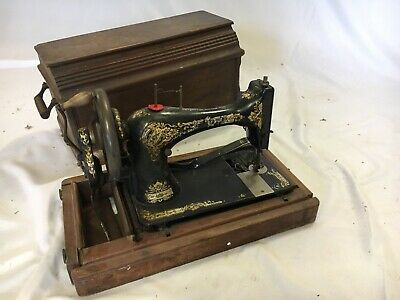 RARE Collectible Antique Vintage Singer Hand  Crank Sewing Machine Sewing