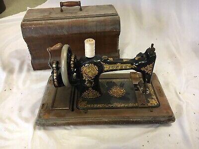 RARE Collectible Antique Vintage Jones  Hand  Crank Sewing Machine Sewing