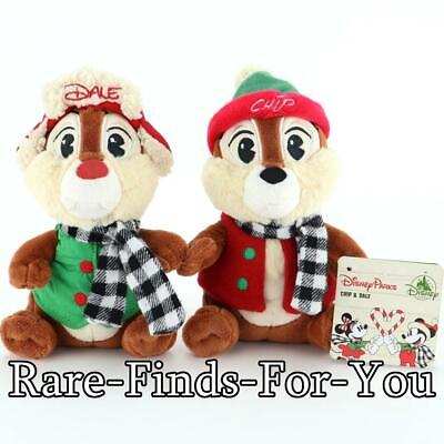 "Disney Parks 2019 Chip Dale Christmas Holiday Plush Doll Toy Set 8"" H (NEW/TAGS)"