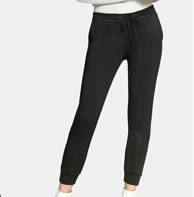 Sanctuary Womens Sz M Black Sport-Seamed Jogger Pull-on Pants Drawstring