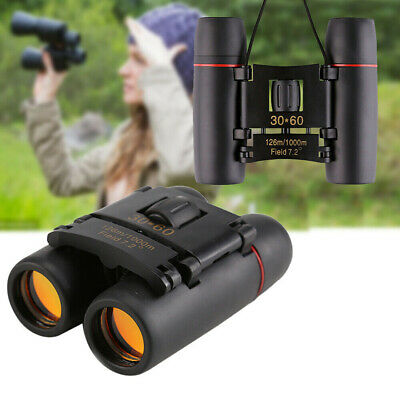 Day And Night Vision 30 x 60 ZOOM Mini Compact Foldable Binoculars Telescopes UK