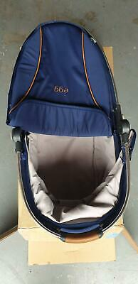 Egg carrycot bassinet for egg stroller navy blue suitable for newborns.