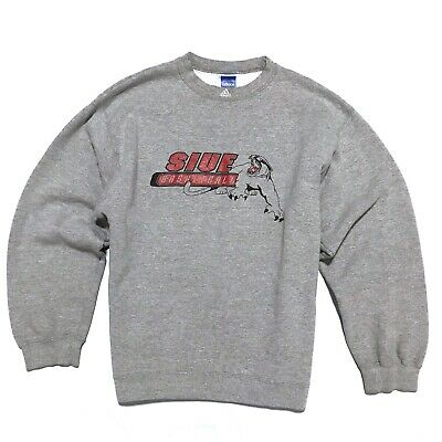 VTG Adidas M Medium SIUE Cougars Southern Illinois NCAA Sweatshirt Mens USA Made