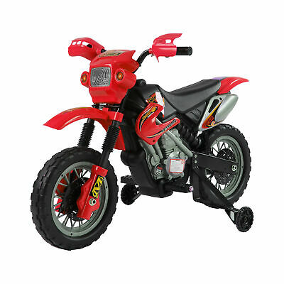 Kids Electric Motorbike Children Ride On Motorcycle 6V Battery Power Scooter Red