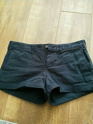 Jack Wills Ladies Shorts Navy SIZE 10 Small Summer Casual Festival Holiday Girls