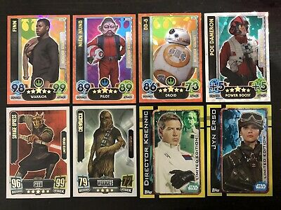8 x Star Wars The Force Attax Limited Edition Rare Card Lot Series 1 2 3 4 Topps