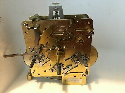 CLEAN untested brass chiming clock movement spares howard miller MICHIGAN no 83