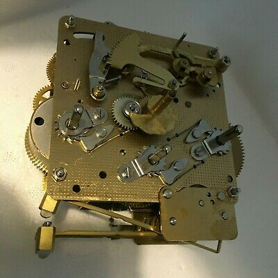 CLEAN untested brass chiming clock movement spares franz hermle letter k 2 jewel