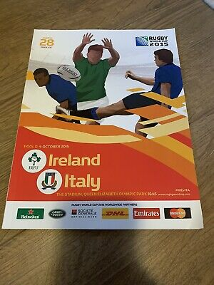 RUGBY WORLD CUP 2015 PROGRAMME RWC2015 Ireland Rugby V Italy Rugby