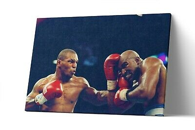 Mike Tyson vs Evander Holyfield Canvas Print Poster Wall Art Painting Decor