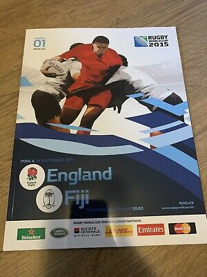 RUGBY WORLD CUP 2015 PROGRAMME RWC2015 England Rugby V Fiji Rugby