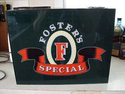 Fosters Special Beer Sign Light For Mancave Or Collector Bar Pub Works See Pics