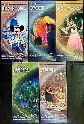 NEW 2020 Walt Disney World Theme Park Guide Maps - 5 Current Maps! + Bonus !!!
