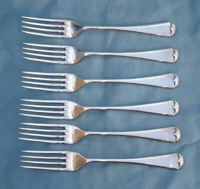 Vintage A1 Silver Plate Dinner Forks X 6 Old English Pattern Epns