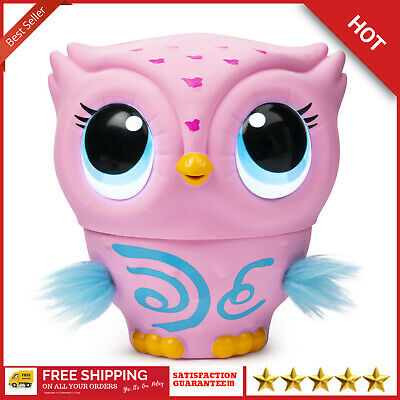 Flying Baby Owl Interactive Toy With Lights And Sounds Owleez Pink For Kids