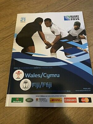 RUGBY WORLD CUP 2015 PROGRAMME RWC2015 Wales Rugby V Fiji Rugby