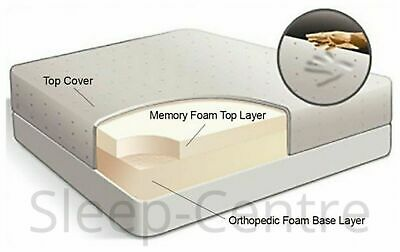 "New Memory Foam Orthopaedic Mattress+ 6"",8"",10"",12"" Depth + 3Ft,4Ft,4Ft6,5Ft,6Ft"