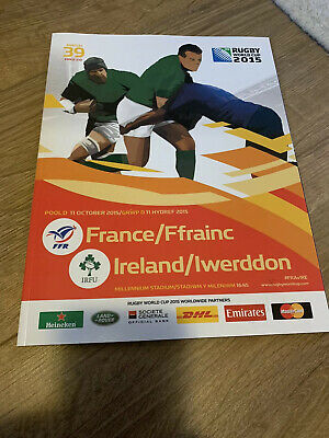 RUGBY WORLD CUP 2015 PROGRAMME RWC2015 France Rugby V Ireland Rugby