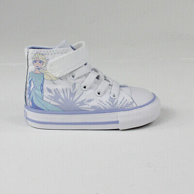 Converse x Frozen 2 HI Toddlers/Infants Trainers White Size 2,3,4,5,6,7,8,9,10.