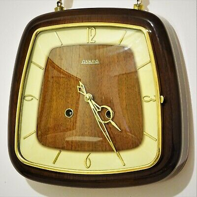 1959 Hermle Ankra Nautical Rope Hanging Chiming Wall Clock Floating Balance 50's
