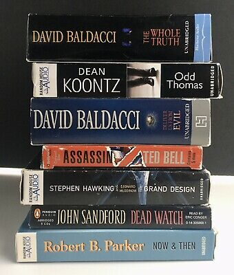 "Lot of 7 Mixed Lot of Mystery Suspense Thriller ""Audio Books on CD"""