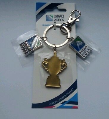 100 x Official Rugby World Cup 2015 3 tag Keyrings .  New