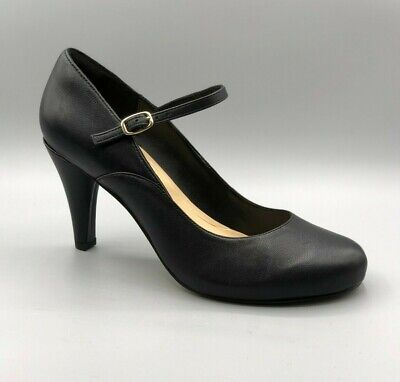 NEW CLARKS WOMENS Dalia Lily Womens Shoes Black Leather