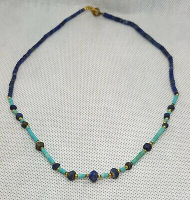 Ancient Lapis lazuli Stone And Persian Turquoise Stone Beautiful Necklace