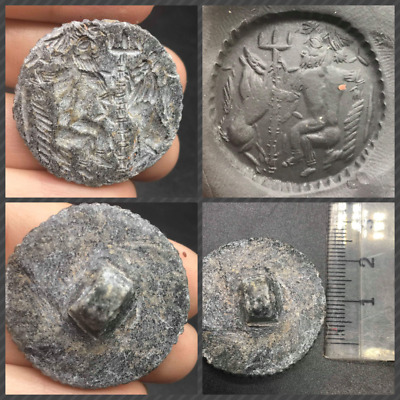 Wonderfull Very Ancinet Old Bactrain Empire King Hunting Tiger Intaglio Stamp