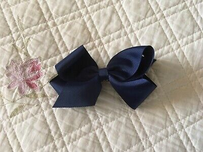 Claire's navy bow with clip