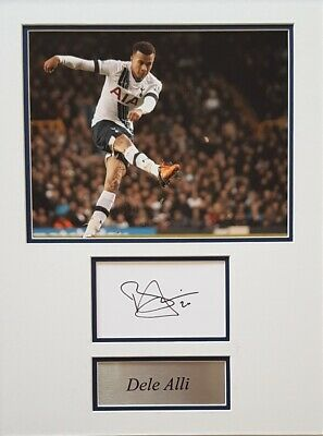 DELE ALLI Signed 16x12 Photo Display TOTTENHAM, SPURS & ENGLAND COA