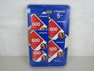 Pack Of 5 Lot Polaroid 600 Instant Film Sealed Unopened 50 Exposures Exp 01-07