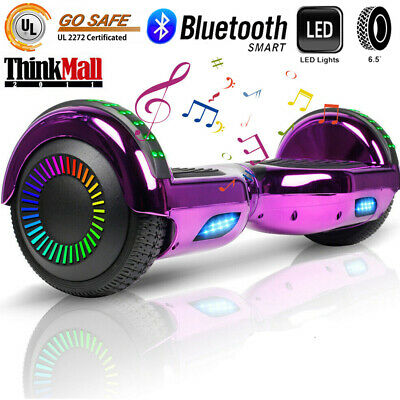 "6.5"" Hoverboard Bluetooth Wheel Electric Self Balance Scooter Bag Chrome Purple"