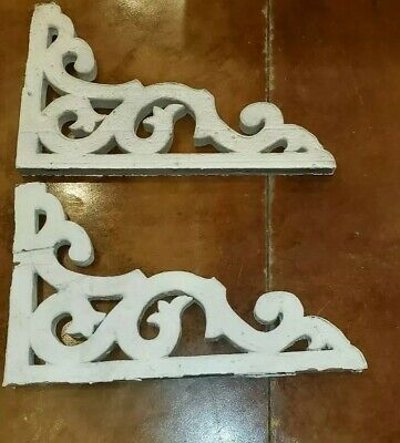Antique Victorian Wood Corbels 1800s Pair Architectural Salvage