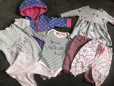Joules Baby Girl 0-3 Months Bundle Sleepsuits Dress Leggins Trousers