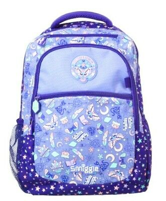 "🚀EXPRESS POST🚀SMIGGLE ""EXPRESS"" LARGE ACCESS BACKPACK SCHOOL BAG💜 Daydream💎"