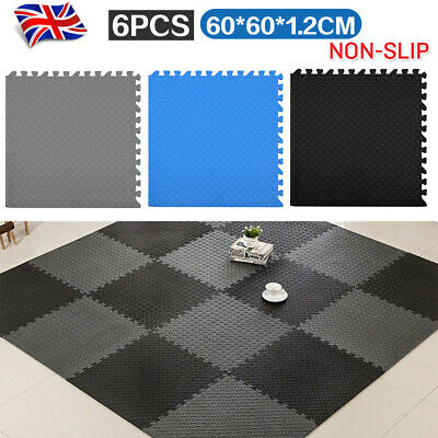 Interlocking Heavy Duty EVA Foam Gym Flooring Floor Mat Tiles 60X60X1.2cm