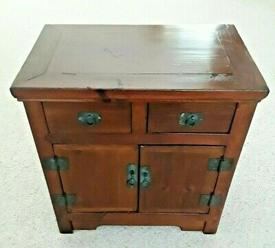 A DELIGHTFUL VINTAGE ORIENTAL CHINESE  CABINET or  CHEST Collectables or Jewels