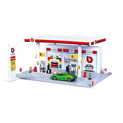 Petrol Station Garage Playset 1:43 Scale Model Toy Bburago Christmas Gift Xmas