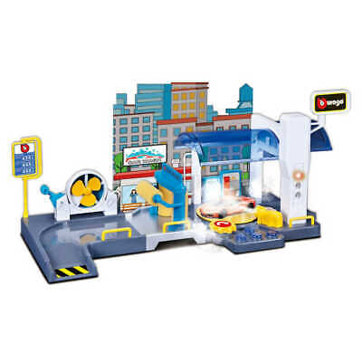 Car Wash Playset Garage 1:43 Scale Model Toy Bburago Christmas Gift Xmas