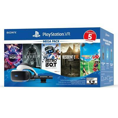 2020 Sony - PlayStation VR Mega Pack with 5 Five Game bundle-Virtual Reality PS4