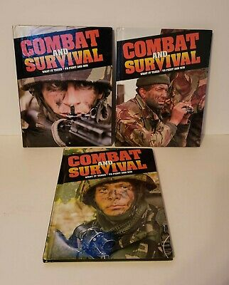 Combat and Survival Volume 1 2 3 Lot Hardcover Like New Book War Military Set
