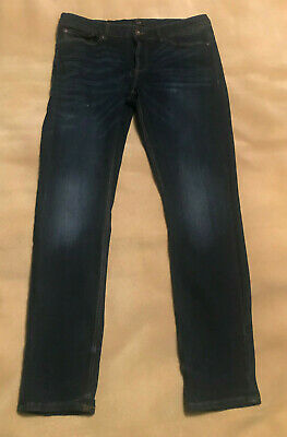 "Mens River Island Stretch Skinny Sid Jeans Size 32"" Waist, 31"" Leg. Good Cond"