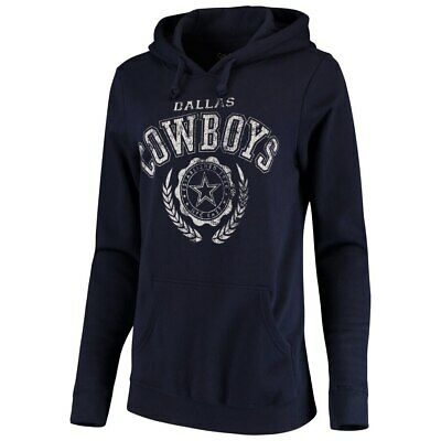 NFL Dallas Cowboys Women's Whelp Pullover Fleece Hoodie - Navy Blue