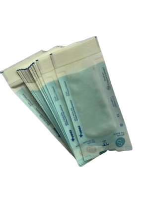 STERILIZATION SELF SEAL POUCHES 50 PCS 60X130mm MEDICAL AUTOCLAVABLE BAGS