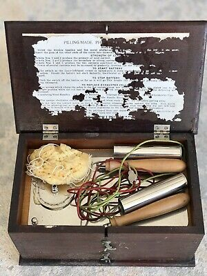 Antique Battery Electric Machine Quack Medical Shock Therapy Pilling As Is