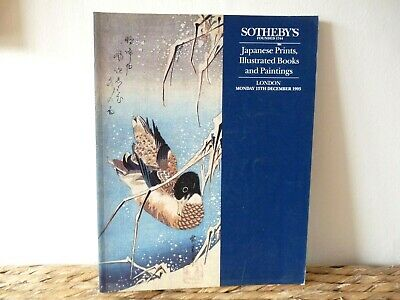 Sothebys Japanese Prints ,illustrated Books & Paintings December 1993 232 lots