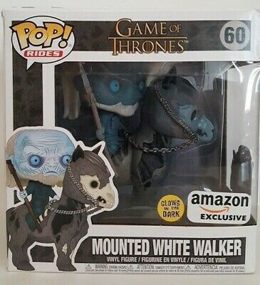 Funko Pop! Game of Thrones #60 Mounted White Walker GITD Amazon Exclusive, NEW